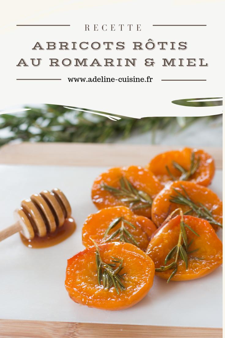 Abricots rôtis au romarin et miel pinterest