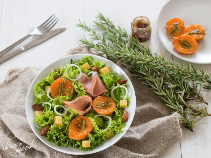 Salade aux abricots rôtis et vinaigrette aux figues recette estivale