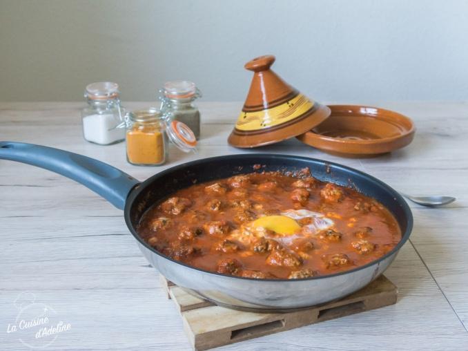 Tajine de kefta aux oeufs recette marocaine facile et rapide