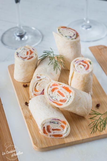 Wraps apéritif de saumon fumé recette facile