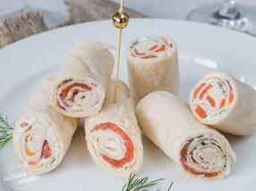 Wraps de saumon fumé recette apéritif