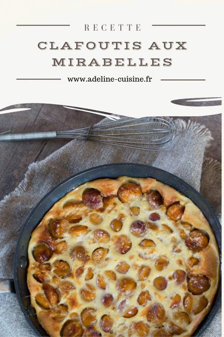 Clafoutis aux mirabelles recette facile Pinterest