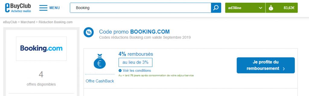Economie en voyage - Ebuyclub via Booking