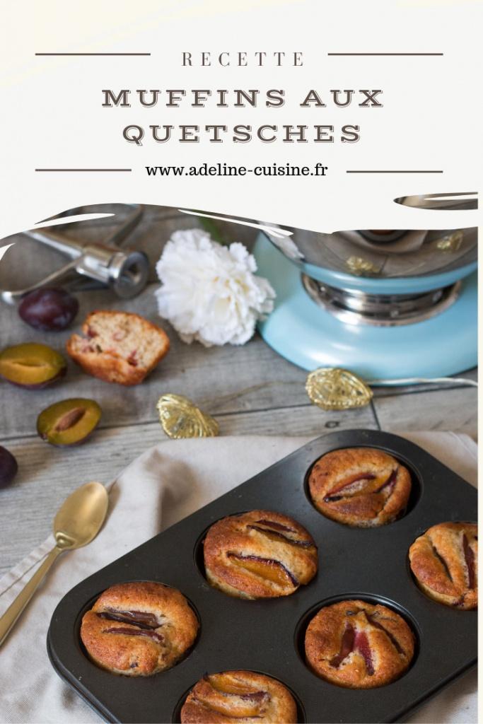 Muffins aux quetsches recette facile Pinterest