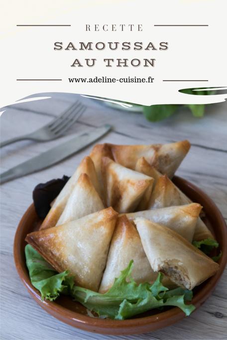 Samoussas au thon recette Pinterest