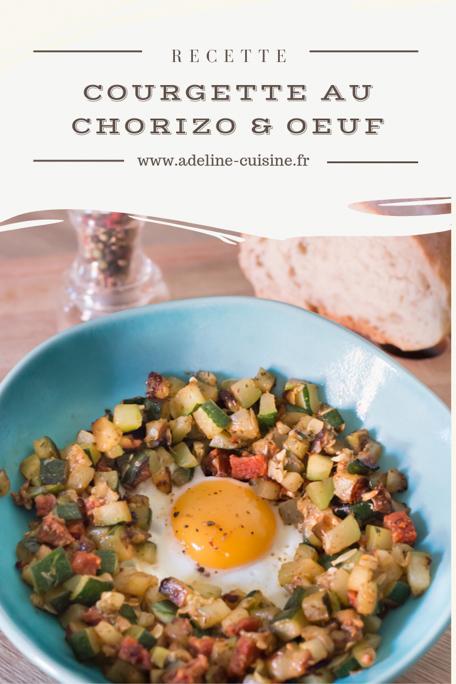 Courgette au chorizo et oeuf recette Pinterest