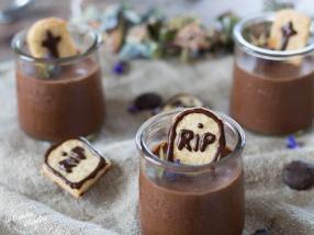 Mousse au chocolat d'Halloween recette