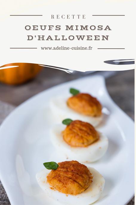 Oeuf mimosa Halloween recette Pinterest