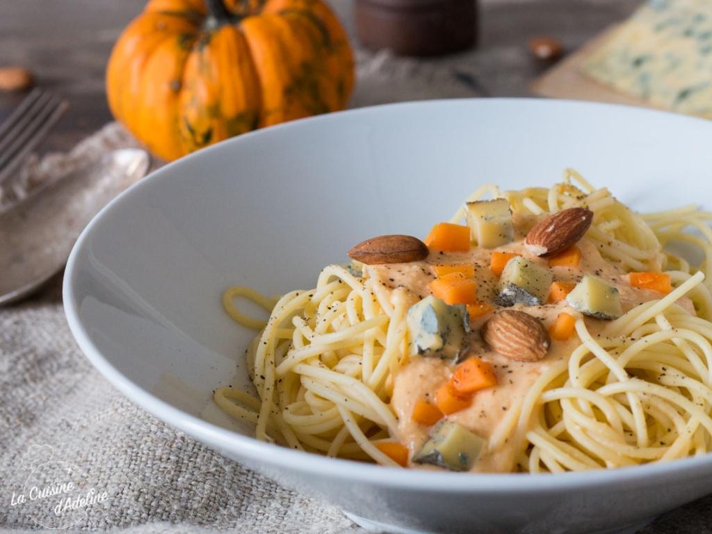 Spaghettis à la crème de courge