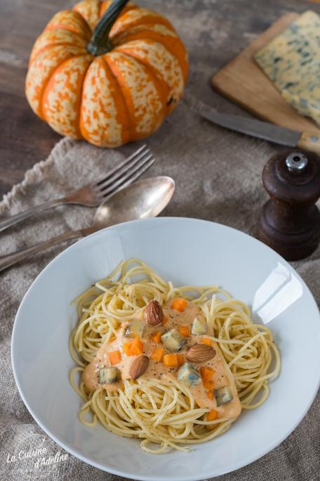 Spaghettis à la crème de courge recette