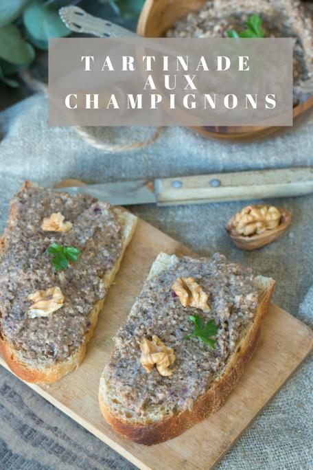 Tartinade aux champignons recette Pinterest