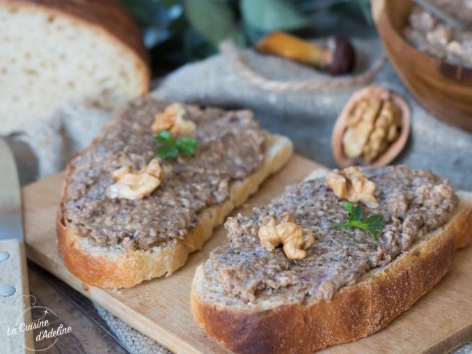 Tartinade aux champignons recette apéritif