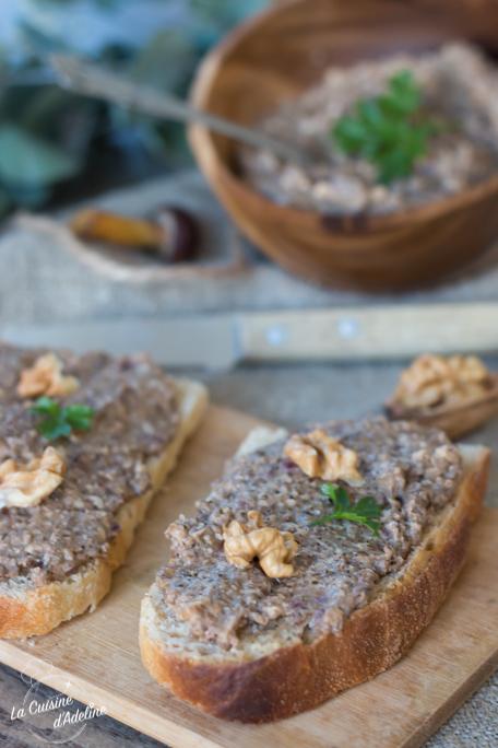Tartinade aux champignons recette facile végétarienne