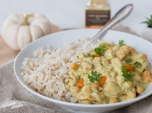 Curry végétarien de courge et pois chiches recette