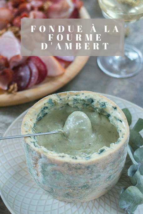 Fondue à la Fourme d'Ambert recette Pinterest