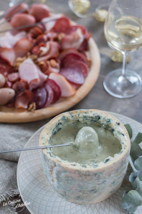 Fondue au fromage à la Fourme d'Ambert recette conviviale