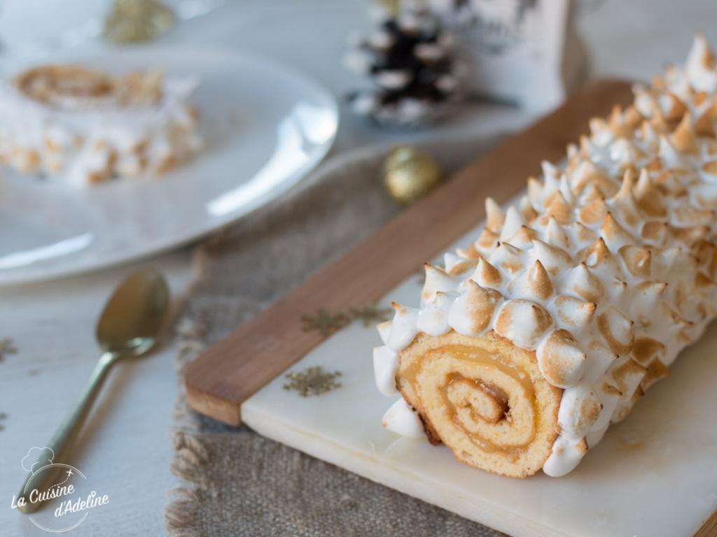 Bûche citron meringuée recette dessert de Noël