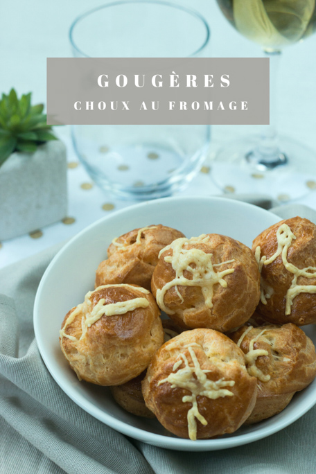 Gougères au fromage recette Pinterest