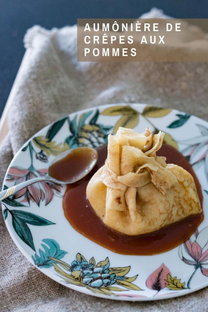 Aumônière de crêpe aux pommes recette Pinterest
