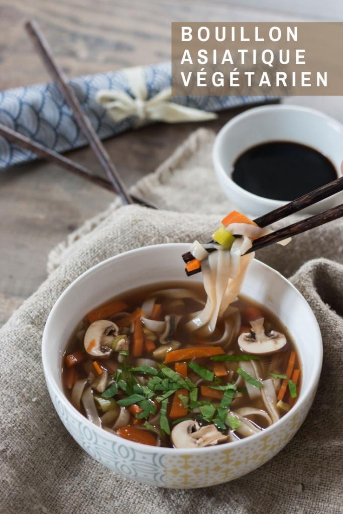 Bouillon asiatique végétarien Pinterest