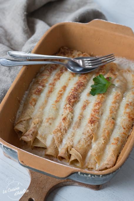 Crêpes jambon fromage gratinées recette ficelles picardes