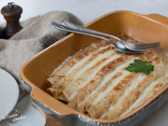 Ficelles picardes crêpes jambon fromage gratinées recette