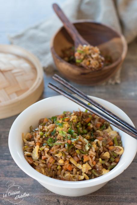 Riz sauté aux légumes recette asiatique