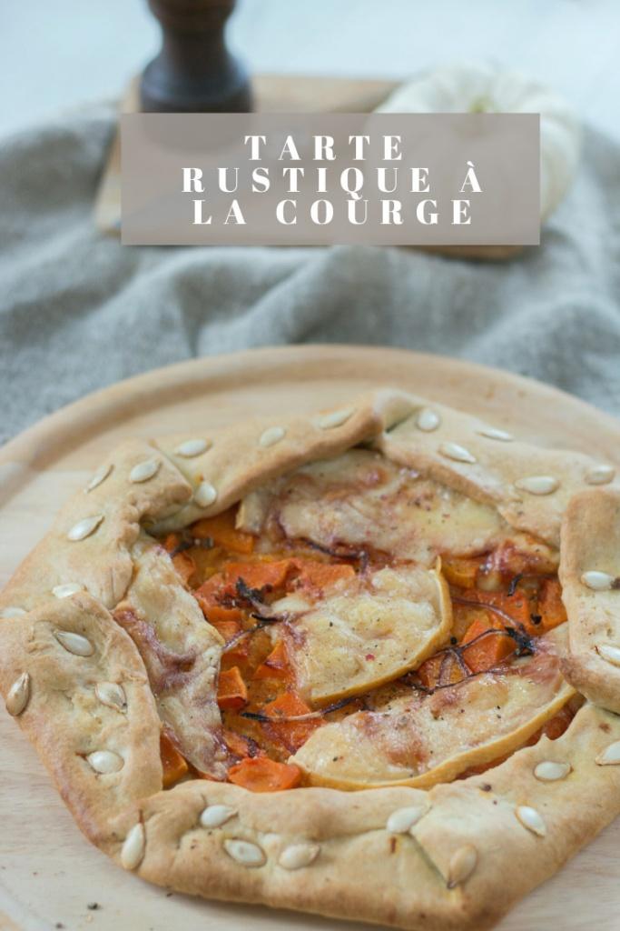 Tarte rustique à la courge recette Pinterest