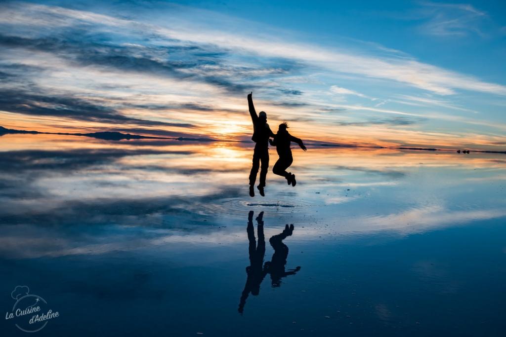 Excursion lever du soleil sur le Salar d'Uyuni