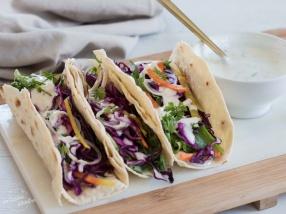 Tacos végétariens aux crudités