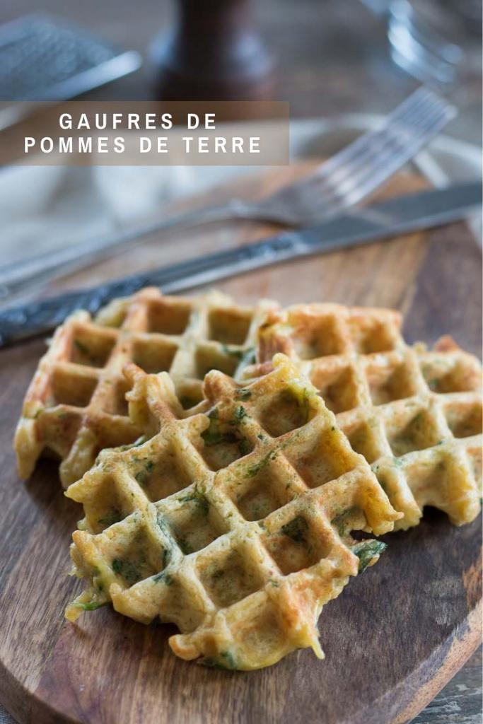 Gaufres de pommes de terre recette Pinterest