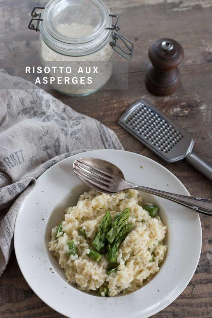 Risotto aux asperges recette Pinterest