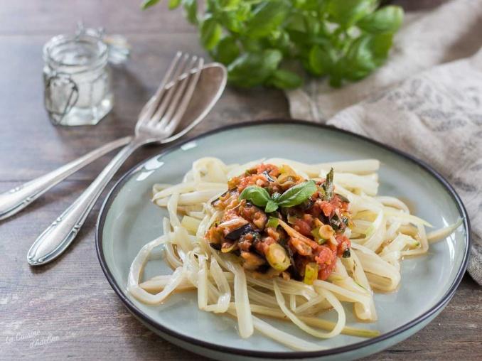 Spaghettis de côtes de blettes recette originale