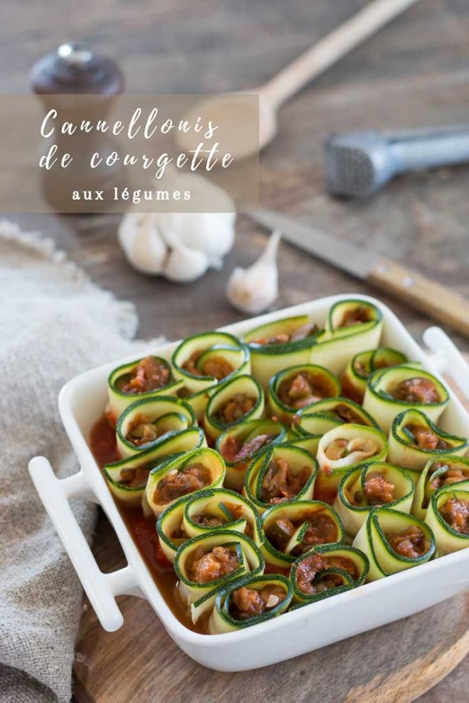 Cannellonis de courgette aux legumes recette Pinterest