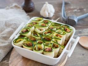 Cannellonis de courgette avant cuisson