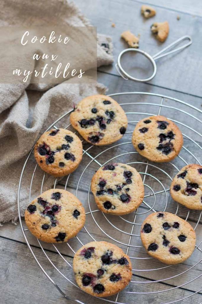 Cookies aux myrtilles recette Pinterest