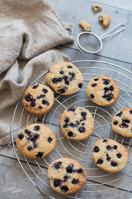 Cookies aux myrtilles recette
