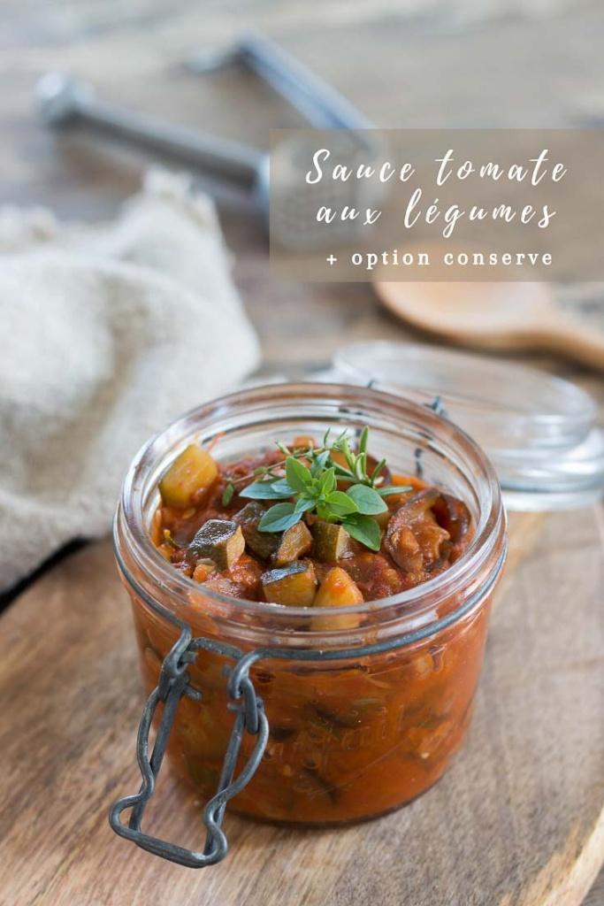 Sauce tomate aux légumes recette Pinterest