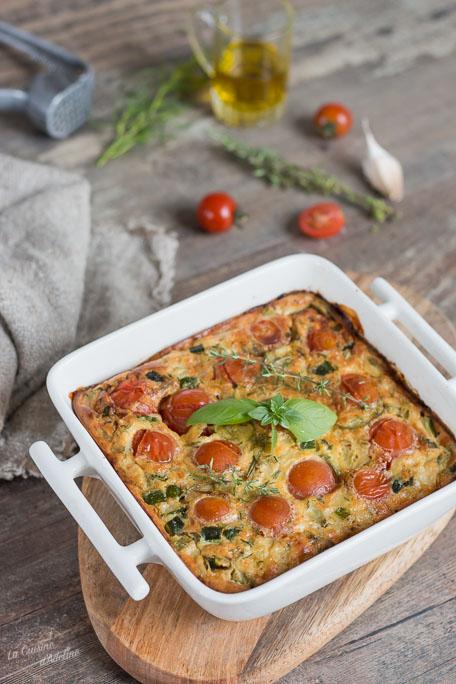 Clafoutis de courgette et tomates recette