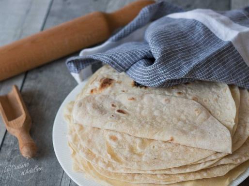 Tortillas de blé maison souples recette facile