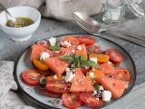 Salade tomate pastèque fêta recette