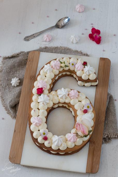 Number cake vanille et poires caramélisées recette