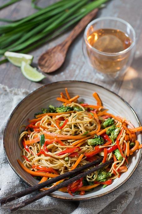 Wok de légumes recette