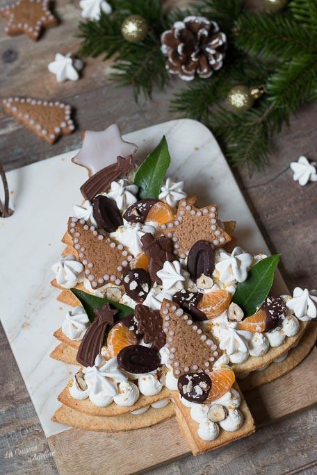 Sapin de Noël façon number cake dessert de Noël