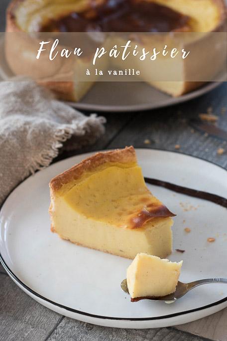 Flan pâtissier recette Pinterest