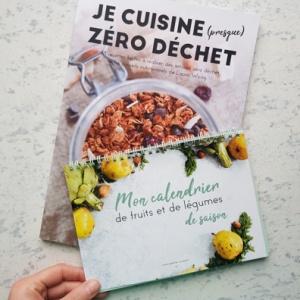 """Pack Locavore - Livre de recettes """"Je cuisine (presque) zéro-déchet"""" et calendrier de fruits et légumes de saison"""