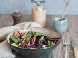 Salade de chou rouge carottes et noisettes recette facile et rapide