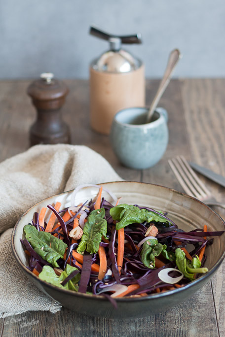 Salade de chou rouge carottes et noisettes recette salade