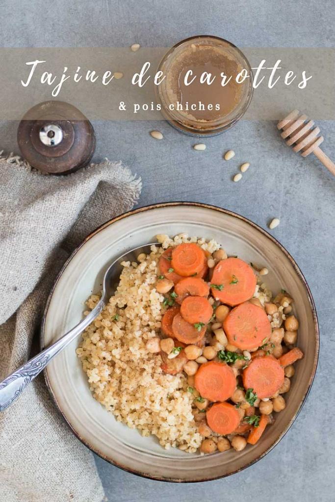 Tajine de carottes et pois chiches recette Pinterest