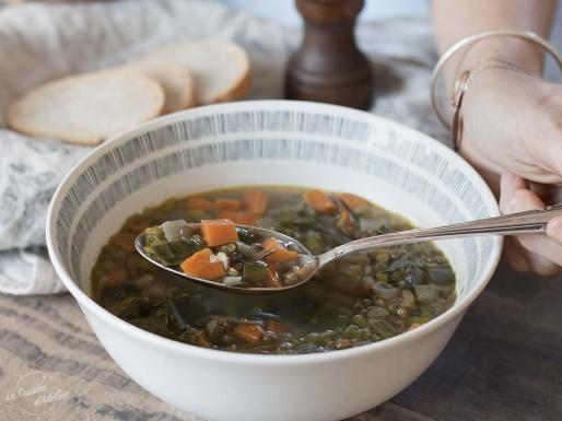 Soupe de lentilles carottes et poireau recette facile